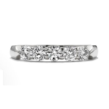 Hearts on Fire 5 Stone Wedding Band