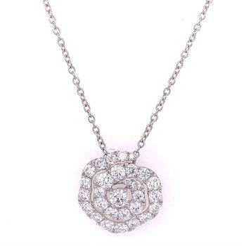 Diamond Twist Pendant in 18k White Gold