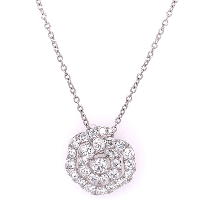 Perry's Estate Collection Diamond Twist Pendant in 18k White Gold