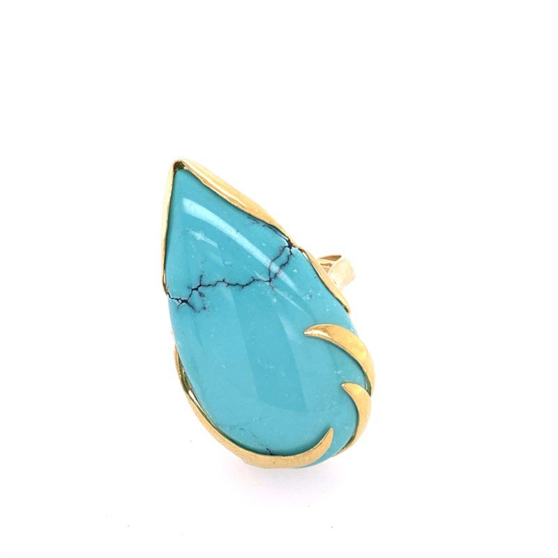 Perry's Estate Collection Turquoise Ring in 18k Yellow Gold