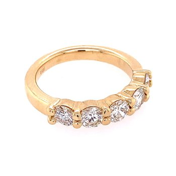 1.42 CTW Diamond Band in Yellow Gold