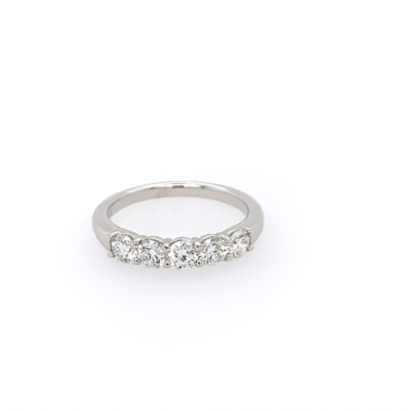 Imagine Bridal Five Stone Diamond Wedding Band
