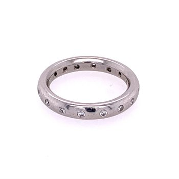 Platinum Diamond Eternity Band Size 3.75