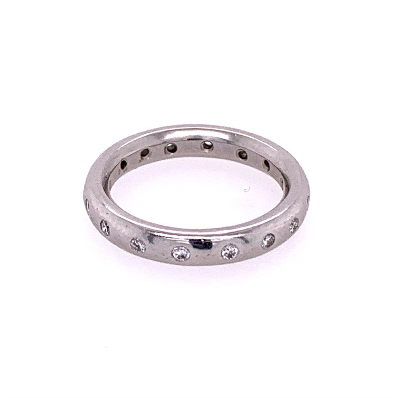 Perry's Estate Collection Platinum Diamond Eternity Band Size 3.75