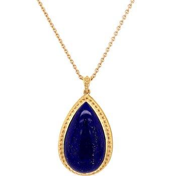 Lapis Pendant Necklace in 18k Gold
