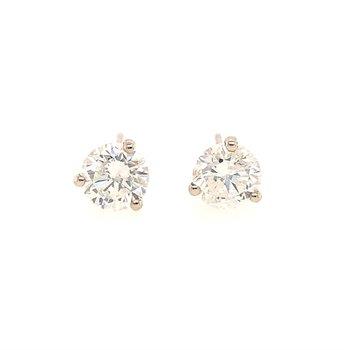 2.76 CTW. Diamond Stud Earrings in White Gold