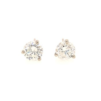 2.76 CTW. Diamond Stud Earrings in White Gold