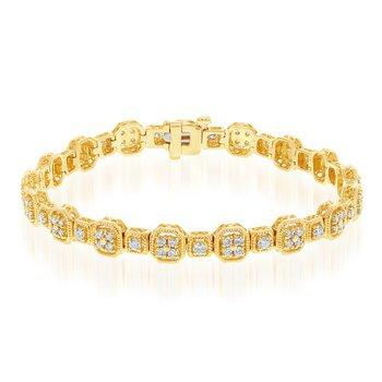 2.0 CTW Diamond Bracelet in Yellow Gold