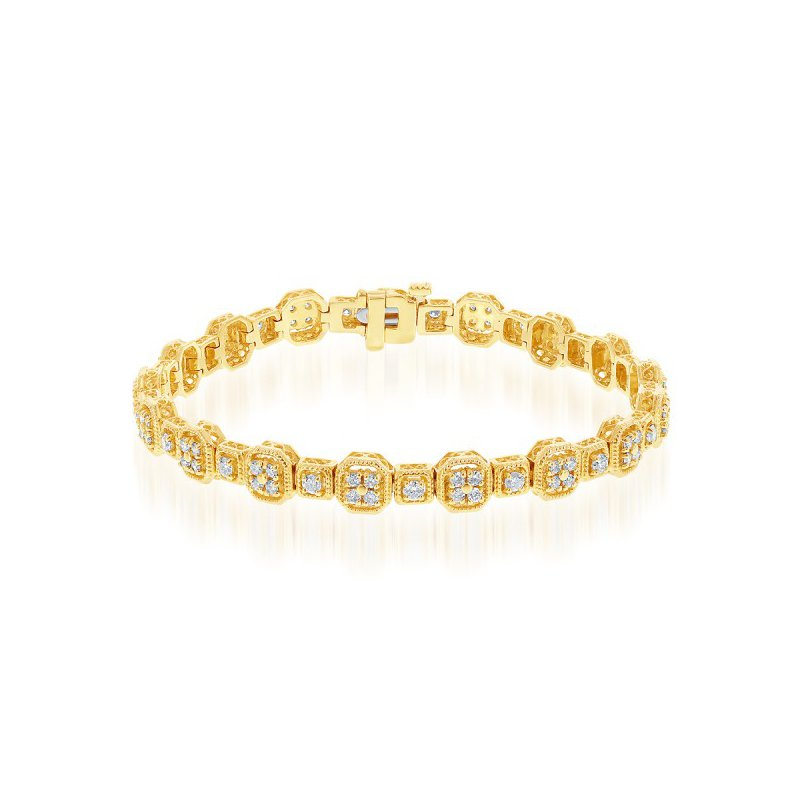 Jewels By Jacob 2.0 CTW Diamond Bracelet in Yellow Gold