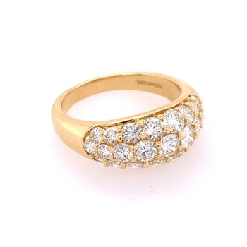 Vintage Diamond Band in Yellow Gold by Tiffany & Co.