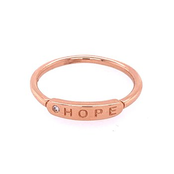 """""""Hope"""" Band in Rose Gold"""
