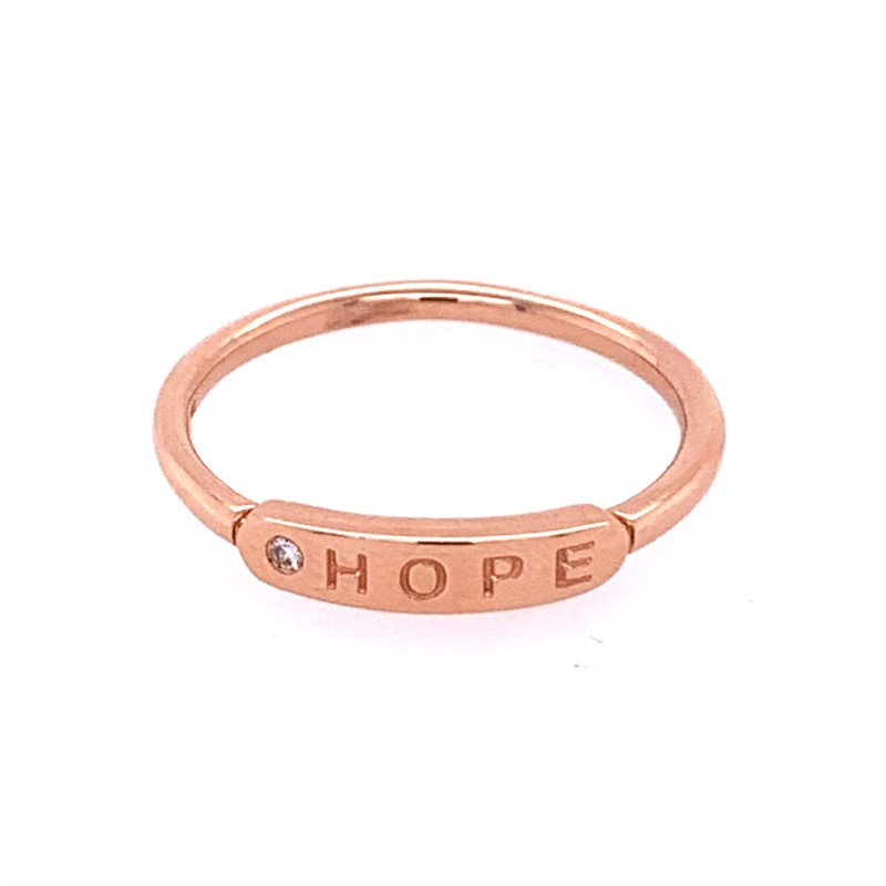 """My Story Jewelry """"Hope"""" Band in Rose Gold"""