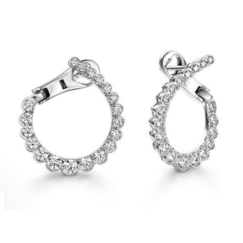 Aerial Regal Small Diamond Hoops