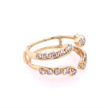 Diamond Ring Guard in Yellow Gold