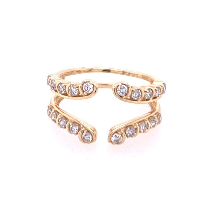 Royal Jewelry Diamond Ring Guard in Yellow Gold