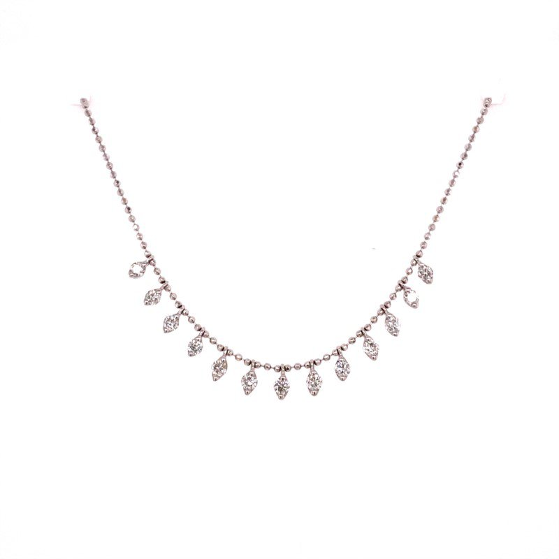 Royal Jewelry Diamond Necklace in White Gold