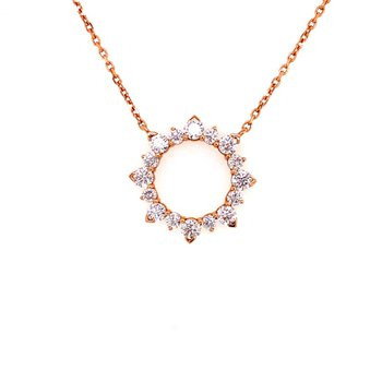Open Diamond Pendant in Rose Gold