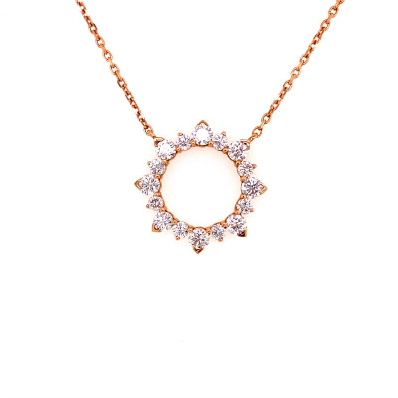 Jewels By Jacob Open Diamond Pendant in Rose Gold