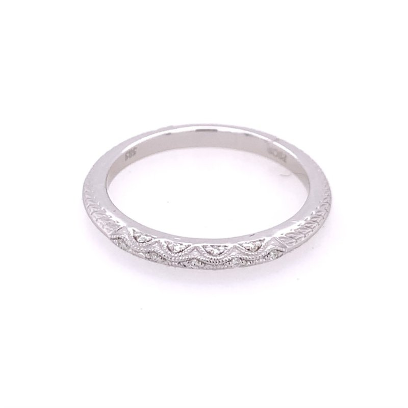 Peter Storm Beaded Diamond Band in White Gold
