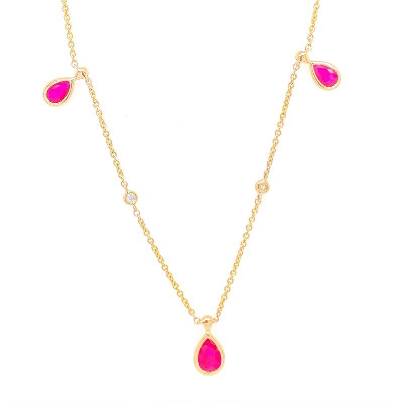 Effy Ruby and Diamond Station Necklace