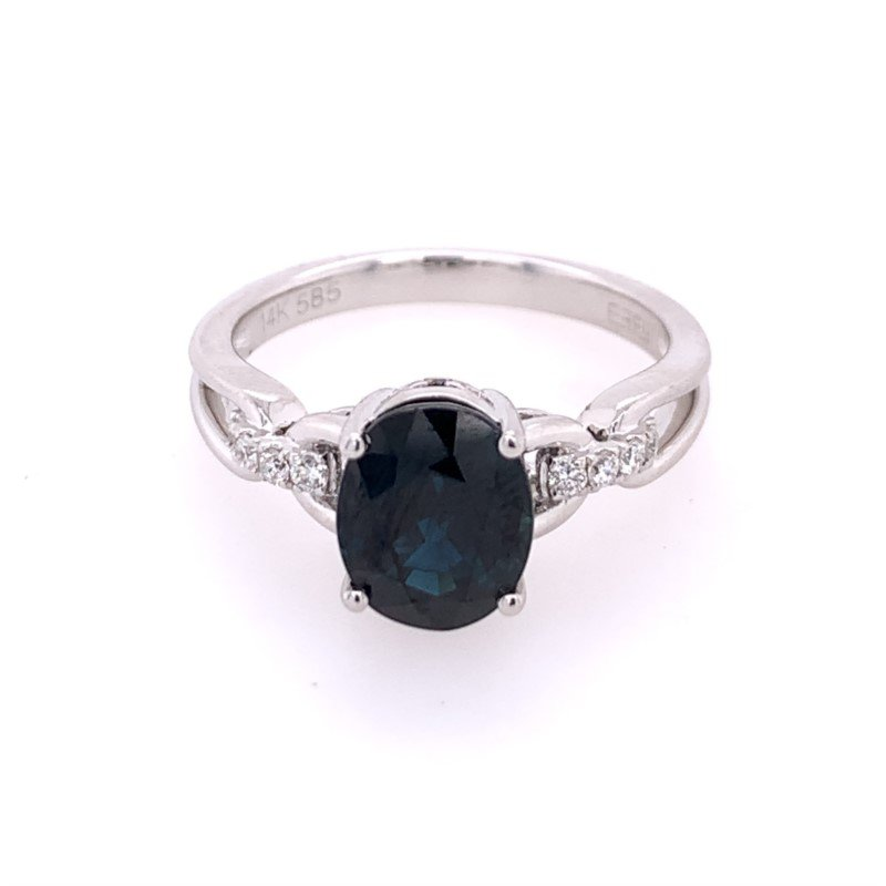 Effy Sapphire and Diamond Ring in White Gold