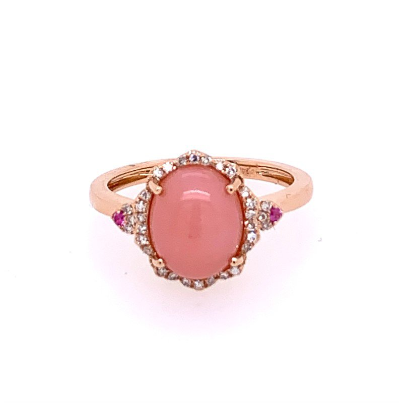 Effy Pink Opal and Diamond Ring in Rose Gold