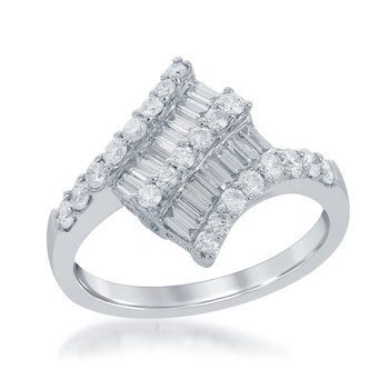 Diamond Fashion Ring in 18k White Gold