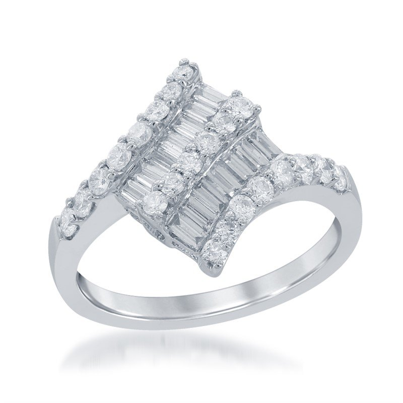 Jewels By Jacob Diamond Fashion Ring in 18k White Gold