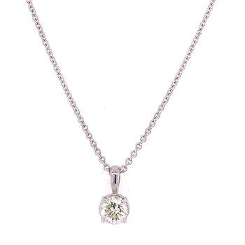 .56 ct. Diamond Solitaire Pendant in 18k White Gold