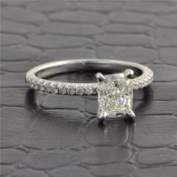 GIA 1.0 Carat G-VS1 Cushion Cut Diamond Engagement Ring