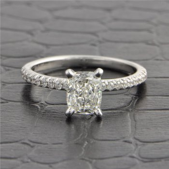 GIA 1.0 Carat G-VS1 Cushion Cut Diamond Engagement Ring