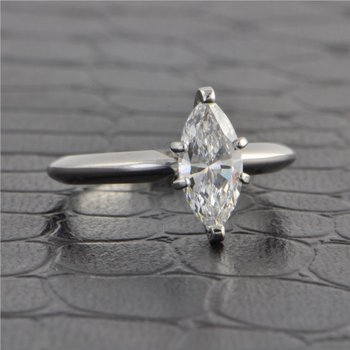 GIA 1.01 Carat D-VVS2 Marquise Cut Diamond Engagement Ring in White Gold