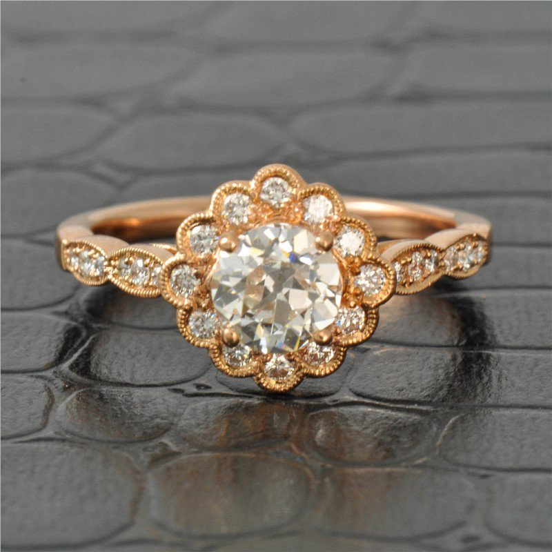 Perry's Estate Collection 0.83 Carat Old European Cut Diamond in Rose Gold