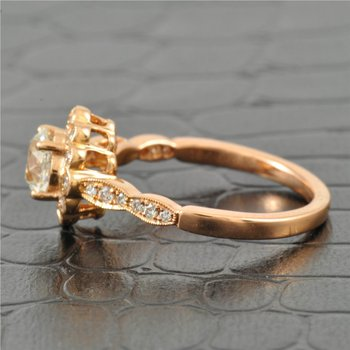 0.83 Carat Old European Cut Diamond in Rose Gold
