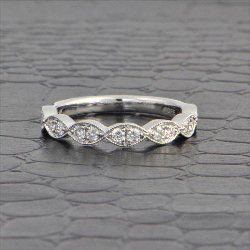 Diamonds Forever Diamond Wedding Band in White Gold