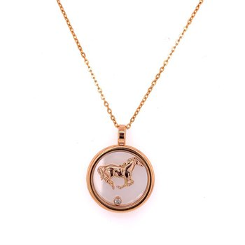 Chopard Horse Pendant in 18k Rose Gold