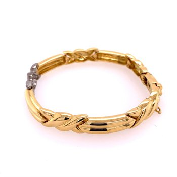 Tiffany & Co. Platinum and 18k Yellow Gold Diamond Bracelet
