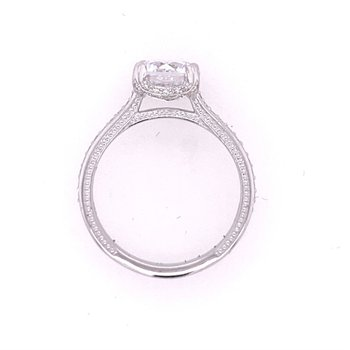 Diamond Semi Mount in White Gold