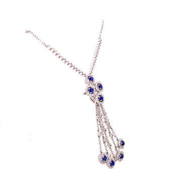 Sapphire and Diamond Chandalier Pendant