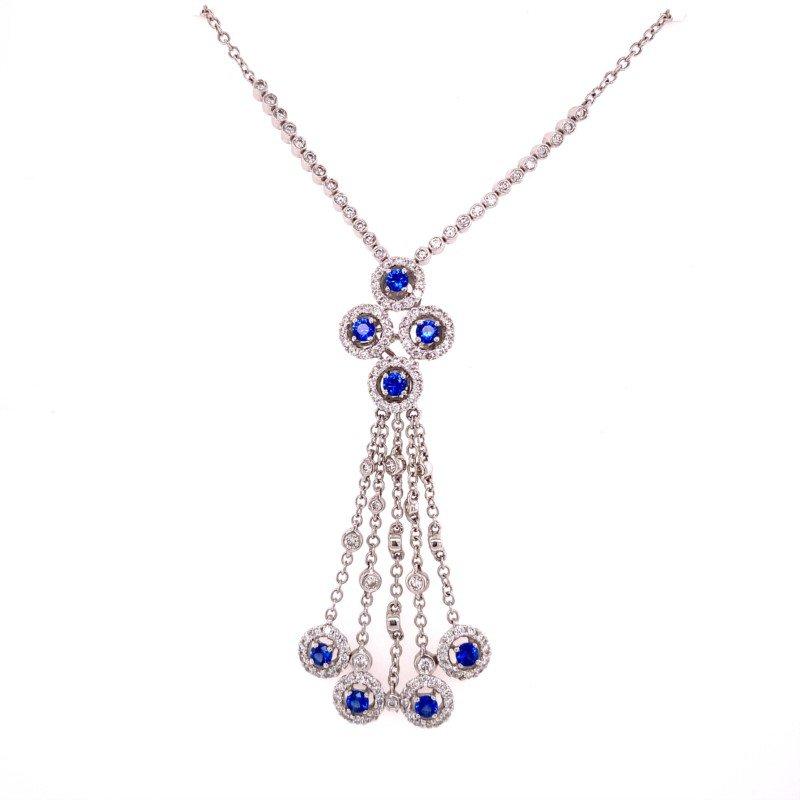 Jewels By Jacob Sapphire and Diamond Chandalier Pendant