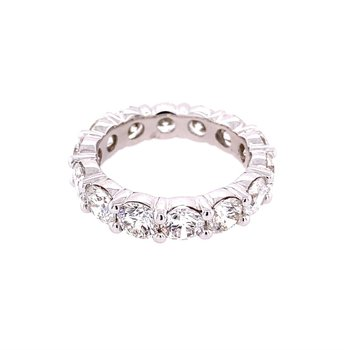 5.75 CTW Diamond Eternity Band in White Gold Size 6.75