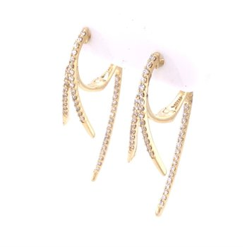 Threader Diamond Earrings in Yellow Gold