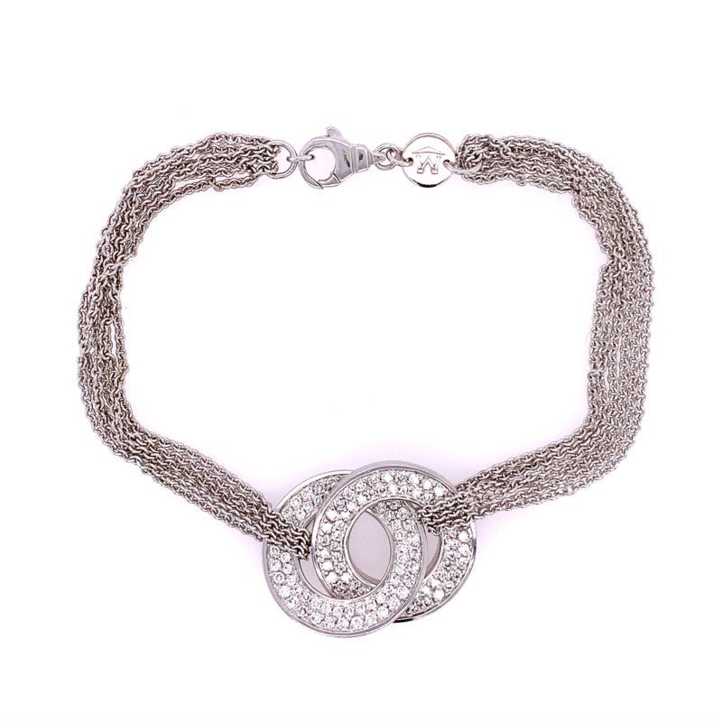 Perry's Estate Collection Movado Diamond Bracelet in 18k White Gold