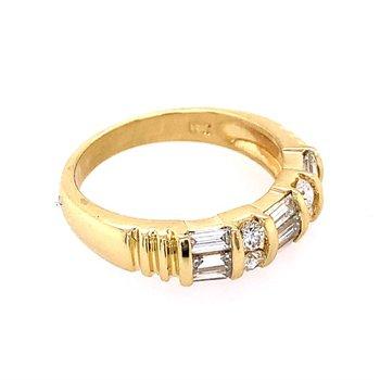 Diamond Band in 18k Yellow Gold