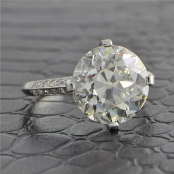 Dreicer & Co. Platinum 6.02 ct. Old European Cut Diamond Engagement Ring ca. 1900s-1910s