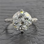 Perry's Estate Collection Dreicer & Co. Platinum 6.02 ct. Old European Cut Diamond Engagement Ring ca. 1900s-1910s