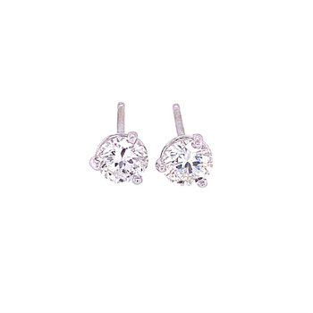 .76 CTW Diamond Stud Earrings in White Gold