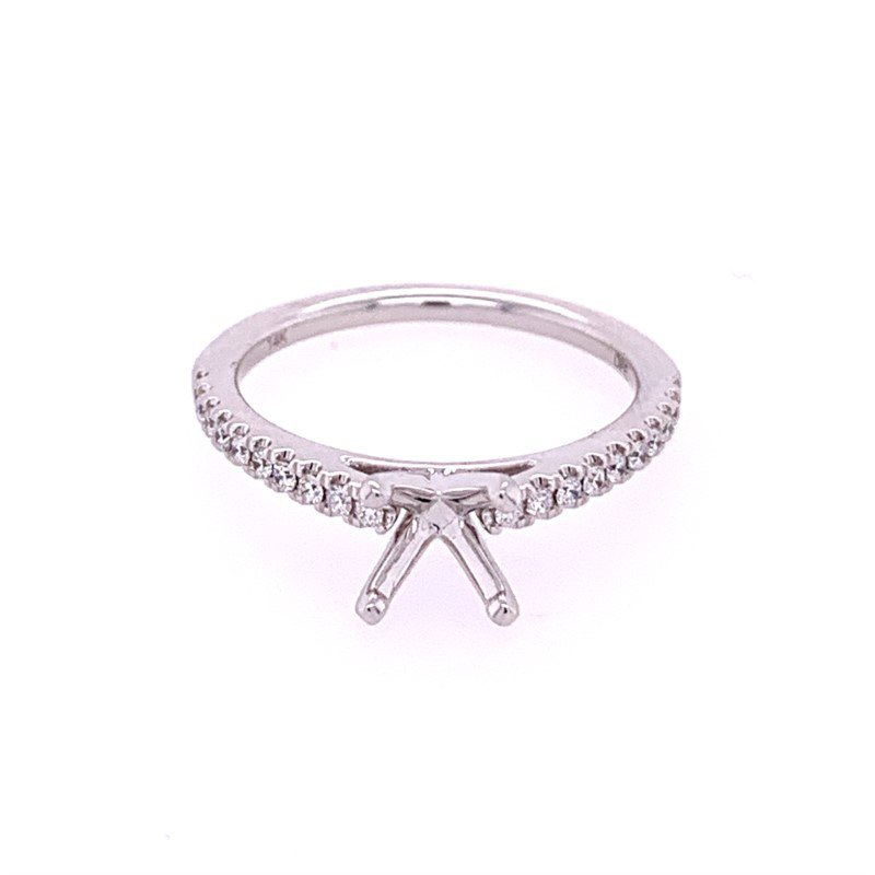 Diamonds Forever Diamond Semi Mount in White Gold