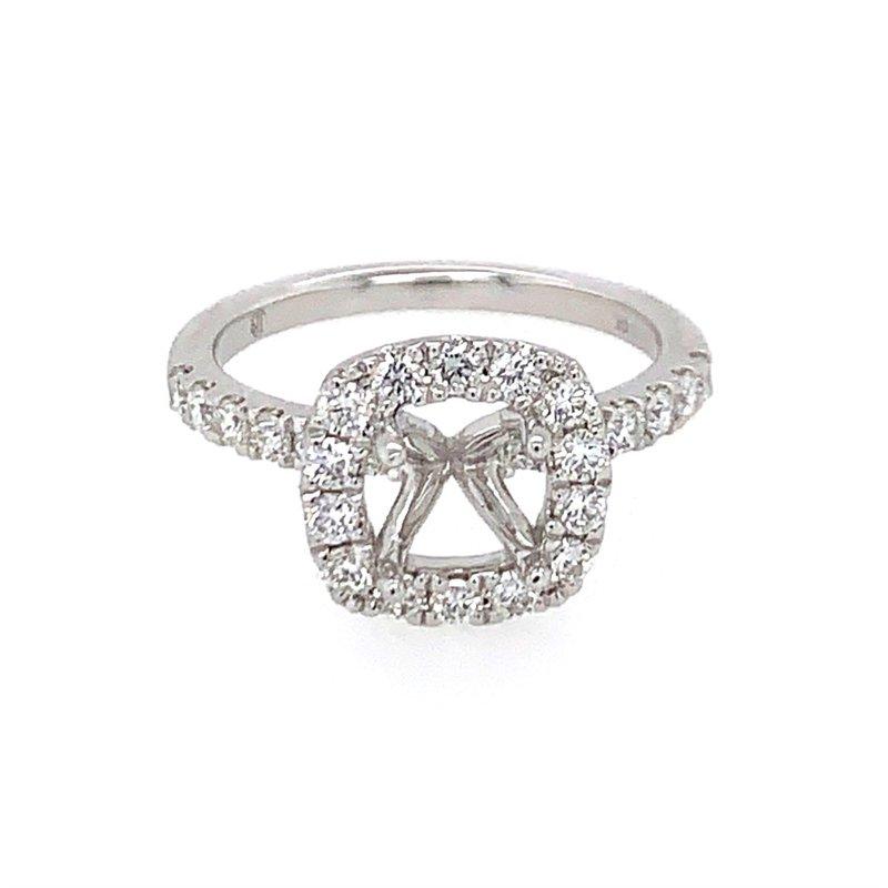 Imagine Bridal White Gold Diamond Halo Semimount