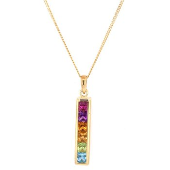 Multigem Pendant in 18k Gold